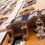 barocker Balkon eines Hauses